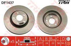 Диск тормозной передний subaru forester (sf, sg, sh), impreza (gp, gh) df1437 TRW/Lucas арт.DF1437