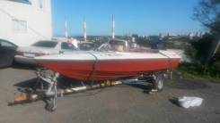 Продам лодку производства америки DIA Craft. длина 5,00м., двигатель подвесной, 100,00л.с., бензин