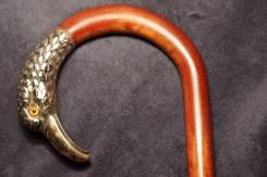 Трость прогулочная с серебряной рукояткой в виде орлиной головы. XIX в. Оригинал
