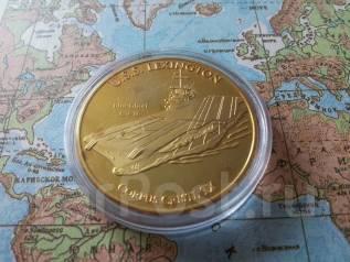 ВМФ США. Большая красивая памятная настольная медаль! Авианосец Lexing