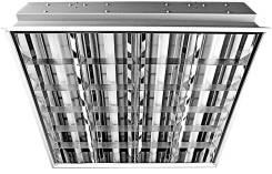 Светильник зеркальный Астра ЛВО-13-4*18-752 595х595 мм с лампами, Россия