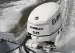 Evinrude. 50,00л.с., 2х тактный, бензин, нога L (508 мм), Год: 2014 год