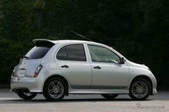 Обвес кузова аэродинамический. Nissan Micra, K12, K12E Nissan March, K12