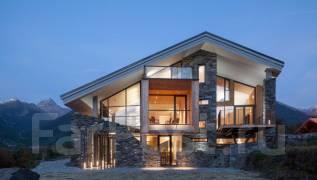 Проект дома из ячеистого бетона 7-102П. 100-200 кв. м., 2 этажа, 7 комнат, бетон