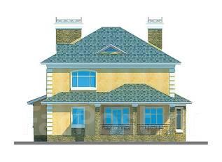 Проект дома из пеноблоков ПБ 2-209. 400-500 кв. м., 2 этажа, 7 комнат, бетон