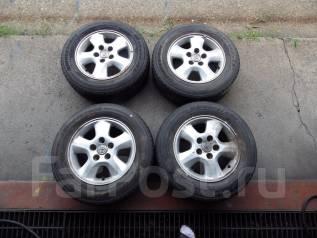 111. Комплект жирной летней резины на литье Toyota. x15 5x114.30