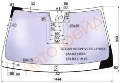 Стекло лобовое атермальное в клей MERCEDES BENZ C-CLASS W204 2007- 4/5D (Solar-X защита от ультрафи