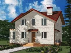 Проект дома из газобетона 1-161П. 200-300 кв. м., 2 этажа, 8 комнат, бетон