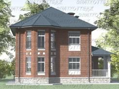 Проект дома из газобетона 1-139П. 200-300 кв. м., 2 этажа, 9 комнат, бетон