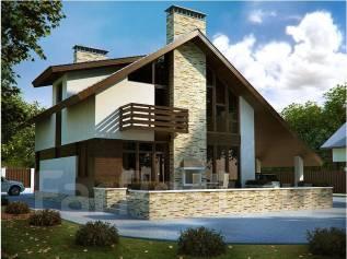 Проект кирпичного дома: ПдС-4-47. 300-400 кв. м., 2 этажа, 9 комнат, бетон