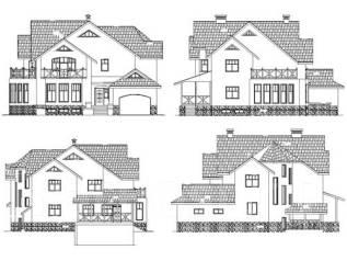 Проект дома из кирпича 18-433К. более 500 кв. м., 2 этажа, 8 комнат, бетон