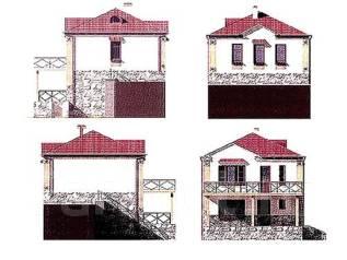 Проект дома из газобетона 12-74П. до 100 кв. м., 2 этажа, 8 комнат, бетон