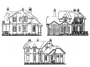 Проект дома из газосиликатных блоков 17-340П. более 500 кв. м., 2 этажа, 9 комнат, бетон