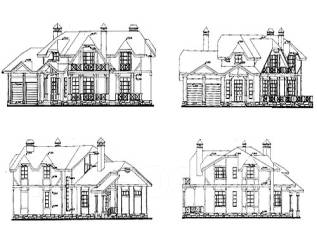Проект дома из кирпича 17-388К. 200-300 кв. м., 2 этажа, 10 комнат, бетон
