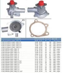 Помпа водяная. Ford Scorpio, GFR, GGR Ford Sierra Двигатели: NSD, BOB, SCC, Y5A, N3A, BRG