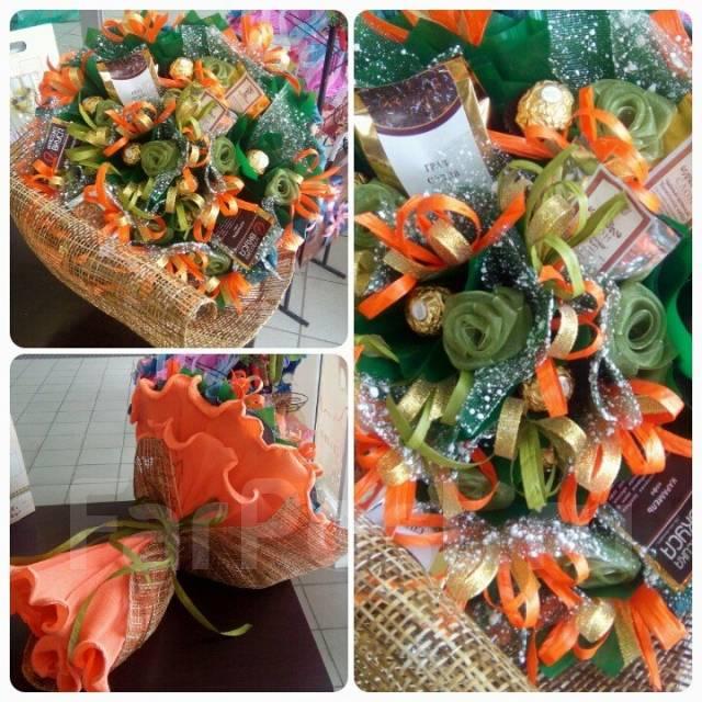 Букеты, подарки и подарочные корзины из чая, кофе, конфет 26