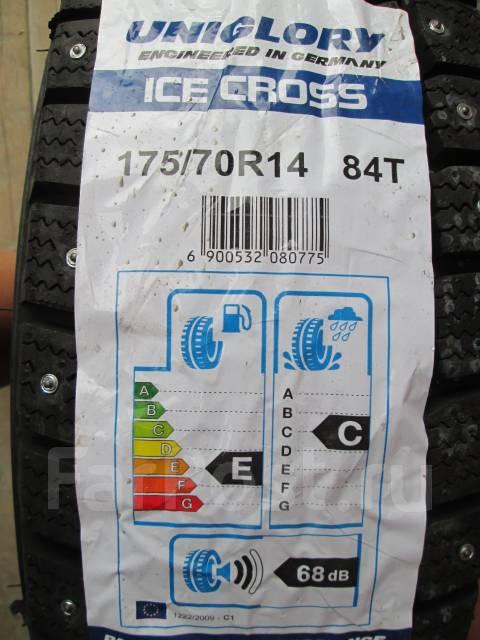 Uniglory Ice Cross. Зимние, шипованные, 2015 год, без износа, 4 шт