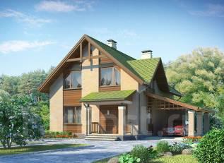 Проект дома из пеноблоков 2-136. 200-300 кв. м., 2 этажа, 8 комнат, бетон