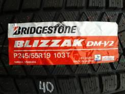 Bridgestone Blizzak DM-V2. Зимние, без шипов, 2014 год, без износа, 2 шт