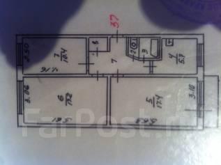 3-комнатная, Автомобилистов 29. агентство, 61 кв.м.