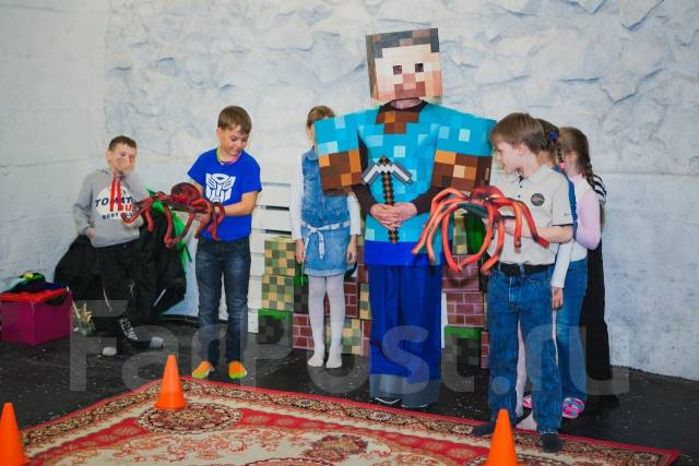 Праздник в стиле Minecraft