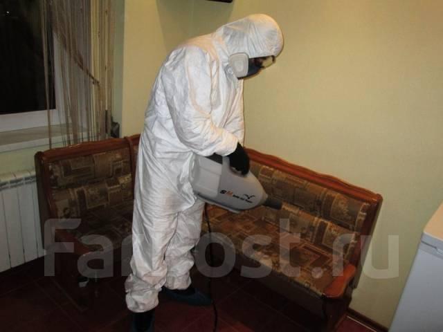 Уничтожение насекомых, тараканов, клопов, блох, крыс, мышей. Газом