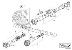 Карданный вал. BMW X6, E71 Двигатель M57TUE2