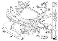 Балка поперечная. BMW X6, E71 Двигатель M57TUE2