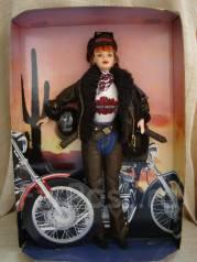 Коллекционная кукла Barbie - байкерша Harley Davidson, раритет, США