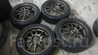Красивый комплект колес р17 с резиной Bridgestone 215/45. 7.0x17 5x100.00 ET42 ЦО 73,0мм.