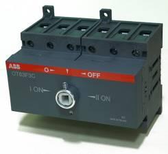 Реверсивный рубильник ОТ40F3С до 40А 3х-полюсный для установки на DIN-рейку или монтажную плату (с резерв. ручкой), 1SCA104913R1001