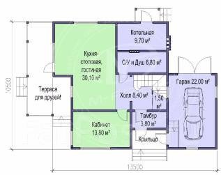 M-fresh Absolute Total (Проект дома со встроенным гаражом! Посмотрите). 200-300 кв. м., 2 этажа, 5 комнат, каркас