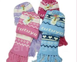 Шапка и шарф. Рост: 104-110 см