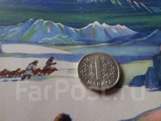 Серебро! Финляндия. 1 марка 1966 года.