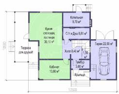 M-fresh Absolute Total (Покупайте сейчас проект со скидкой 20%! ). 200-300 кв. м., 2 этажа, 5 комнат, каркас