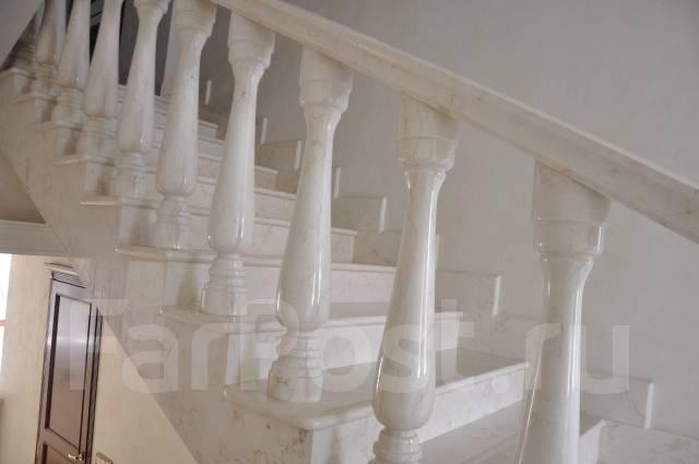 Лестницы, ограждения, фасады из натурального камня переполировка пола