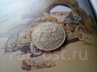 Экзотическая Кения! 10 центов 1967 г. Большая красивая монета!