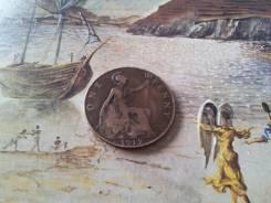 Старая добрая Англия! Нечастый 1 пенни 1912 г. Большая красивая монета