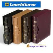 Leuchtturm альбом Optima натуральная кожа шубер, чёрный 341940