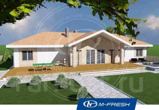 M-fresh Cardinal-A (Проект одноэтажного дома с 6 комнатами! ). 200-300 кв. м., 1 этаж, 6 комнат, бетон