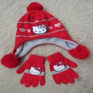 Шапка и перчатки. Рост: 98-104 см