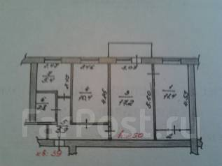 3-комнатная, Гарнизонная 355. пгт. Шкотово, частное лицо, 55 кв.м.
