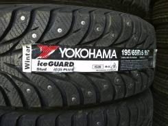 Yokohama Ice Guard IG35+. Зимние, шипованные, 2015 год, без износа, 4 шт
