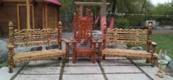 Мебель резная ручной работы, садовая скульптура, декор для сада и дома. Под заказ
