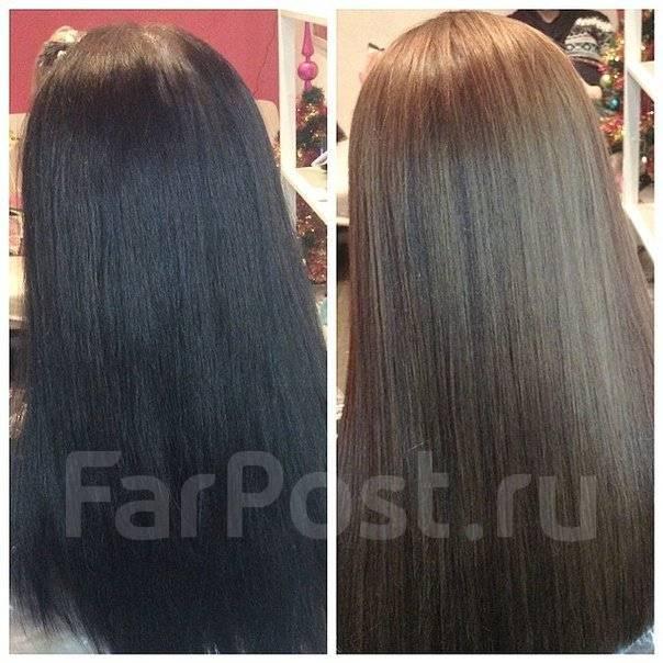 Покраска волос в русый цвет из черного