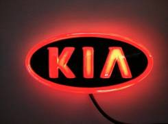 Эмблема 4D красная подсветка (119x62) Киа. Kia Bongo Kia Pregio Двигатель 4D56