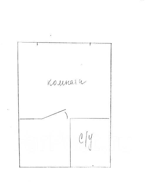 Гостинка, улица Надибаидзе 34. Чуркин, частное лицо, 17 кв.м. План квартиры