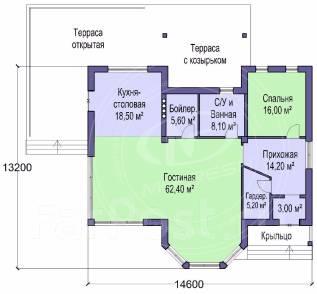 M-fresh Johnny relax. 100-200 кв. м., 1 этаж, 2 комнаты, бетон