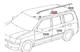 Молдинг крыши. Toyota Succeed, NCP50, NCP51, NCP55, NCP52, NCP58, NLP51, NCP59 Toyota Probox, NCP51, NCP50, NCP52, NCP55, NCP59, NCP58, NLP51 Двигател...