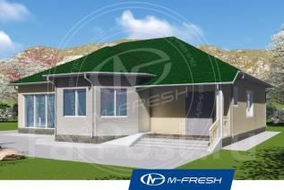 M-fresh Johnny expert (Свежий проект 1-этажного дома для счастья! ). 100-200 кв. м., 1 этаж, 2 комнаты, кирпич